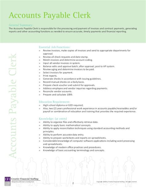 Recruiter Sample Resume by Accounting Amp Finance Job Descriptions