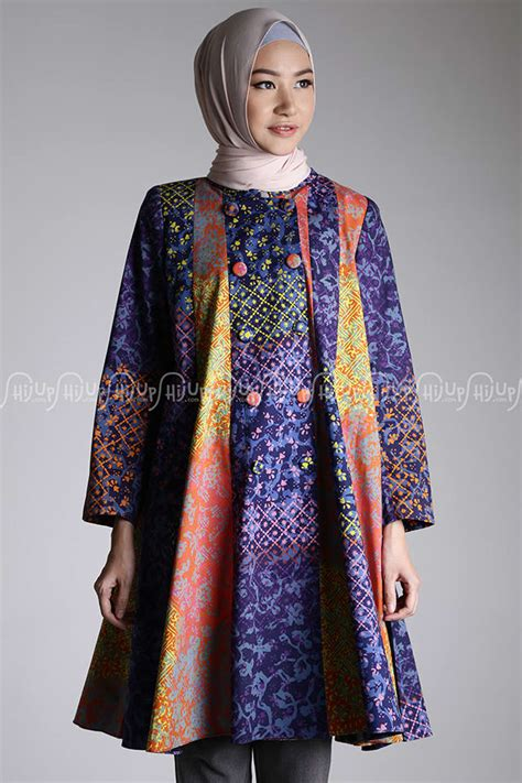 Asteria Dress Batik Abstrak By Dian Pelangi Original Limited tunik umbrella katun batik dian pelangi tunic hijup