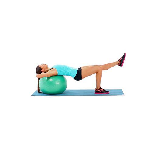 single leg hip raise  head  swiss ball video  proper form  tips  muscle