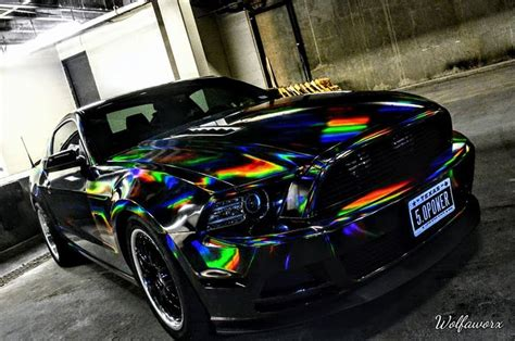 holographic car holographic chrome black 187 cws