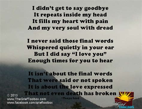 Goodbye Letter Sle For A Loved One Not Goodbye Instead I You A Poem Grief Support