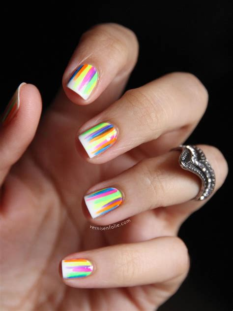 cute pattern nails 50 easy nail designs neon neon nails and nail manicure