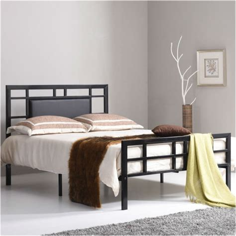 upholstered bed frame and headboard verysmartshoppers queen size black metal platform bed