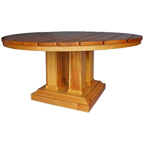 Large Circular Table Large Circular Table In Pine For Sale At 1stdibs