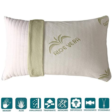 cuscini in memory foam cuscini letto in memory foam aloe vera e 40x70