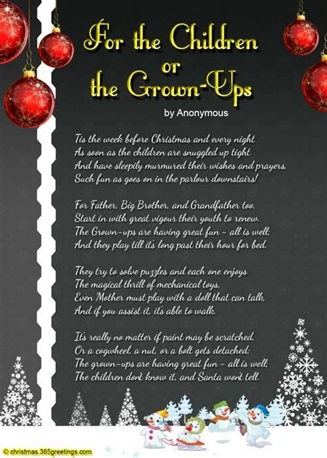 christmas poems for kids poems for children kid and