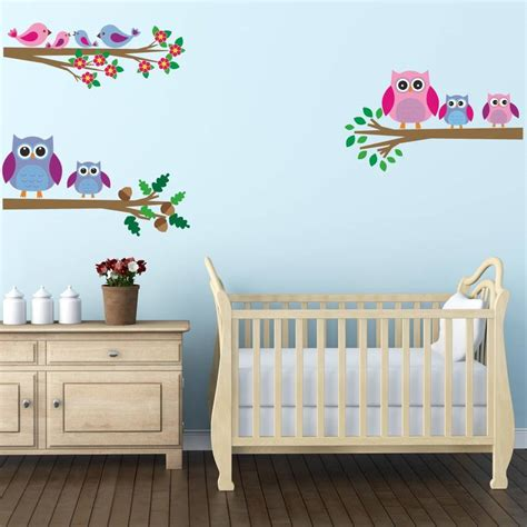 Baby Nursery Wall Decals Canada Owl Wall Decals Canada Wall Stickers For Bedroom Vinyl Owl Flower Vine Wall