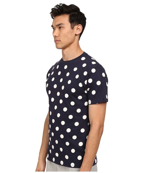 mcnairy new amsterdam polka dot t shirt in blue for