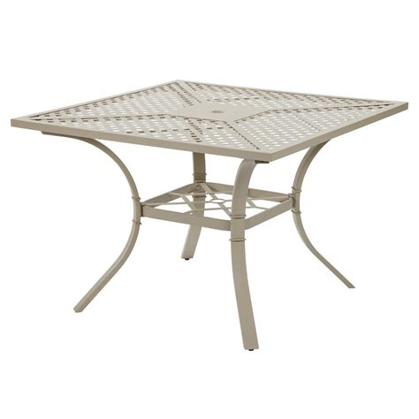 Metal Patio Dining Table Hton Bay Mix And Match Metal Outdoor Dining Table Fts70575 The Home Depot