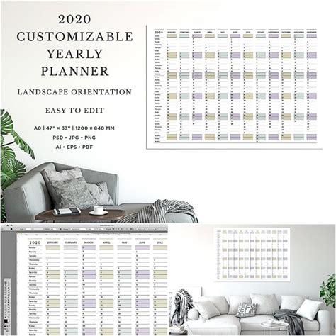 customizable calendar template