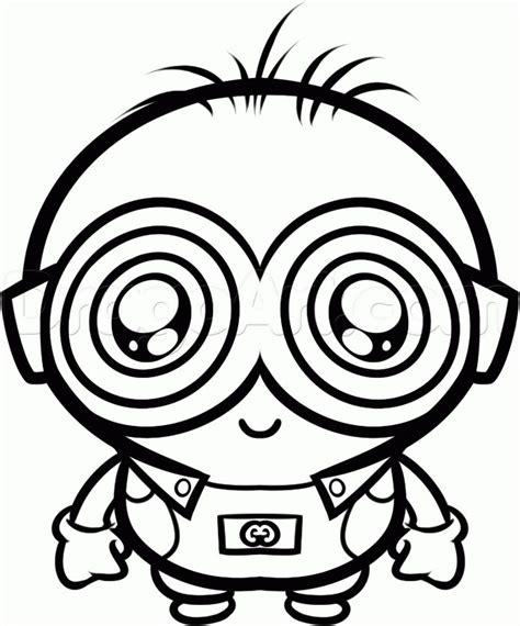 minion rush coloring page baby minions drawing google search minion pinterest
