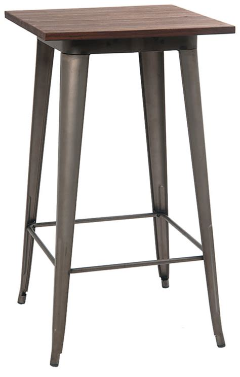 industrial bar height table industrial series bar height table with metal legs and