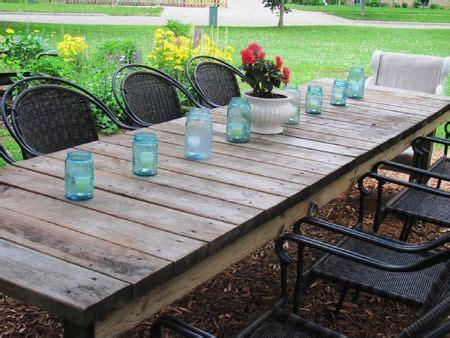 Farmhouse Patio Table Outdoor Garden Weathered Rectangular Farmhouse Table Diy Farmhouse Table