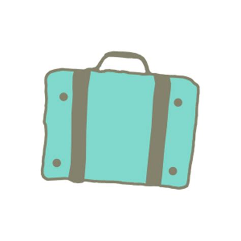 teal suitcase sticker digital scrapbooking free download