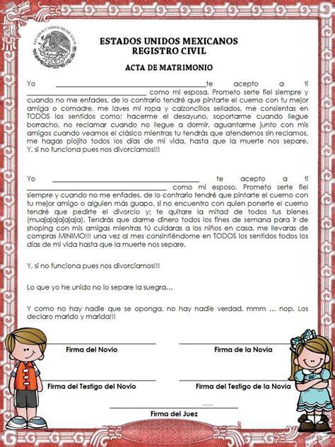 certificado de matrimonio para kermes acta de matrimonio para kermess ideas escolares pinterest