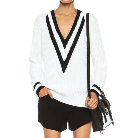 knit varsity sweater pattern 30 extra off rag bone talia v neck knit varsity