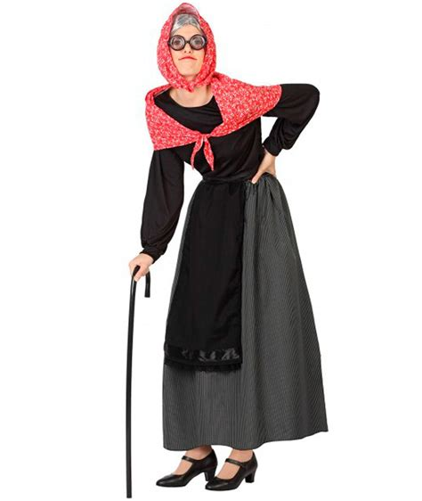 disfraz de la cotorrita disfraz de abuela anciana para mujer