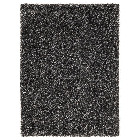 rugs black vindum rug high pile grey 133x180 cm ikea