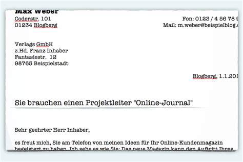 Offizieller Brief Adresskopf Bewerbung Betreff Formulierungstipps Karrierebibel De