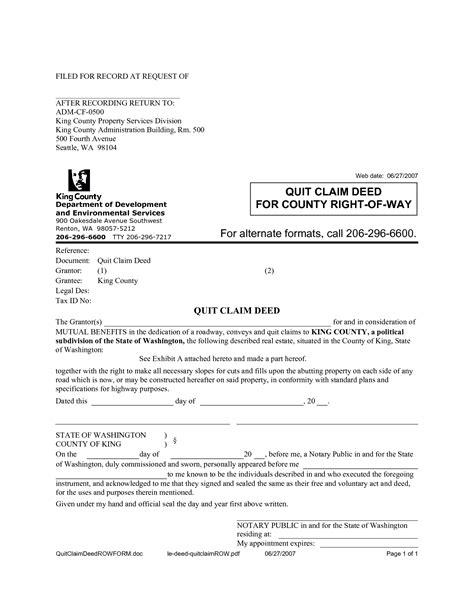free printable quit claim deed alabama quit claim deed sle free printable documents