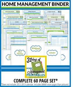 home management complete 60 page home management binder organizing homelife