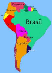 south america map no names epals
