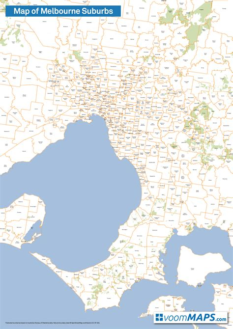 suburbs of map map of melbourne suburbs voommaps