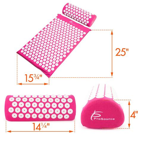 Acupuncture Mat Benefits by Prosource Acupressure Mat And Pillow Set For