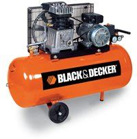 black and decker air compressor portable with 100 lt belt driven 2 hp 10 bar working