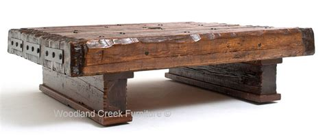 reclaimed beam coffee table reclaimed barn wood beam coffee table so that s cool