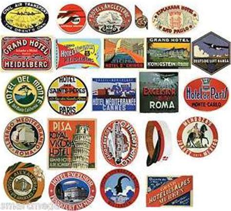 Aufkleber Von Papier Lösen by Vintage Hotel Gep 228 Ck Etikett Aufkleber Pack 24 Koffer