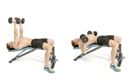 dumbbell bench press without bench decline dumbbell bench press pictures video guide and tips