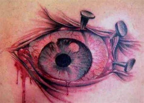 red eye tattoo creepy eye tattooshunt