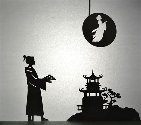 moon festival printable shadow puppet set adventure   box