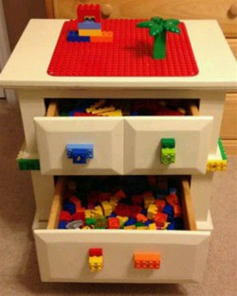 lego table with drawers diy