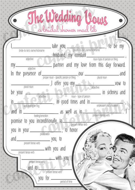 free printable retro bridal shower games retro bridal shower game the wedding vows printable