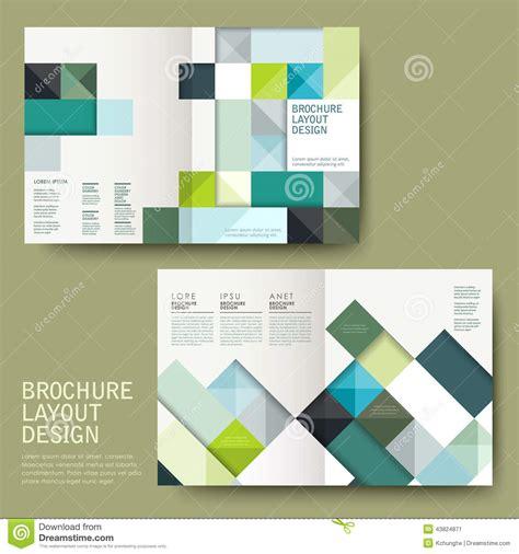 free half fold brochure template geometric style half fold template brochure stock vector