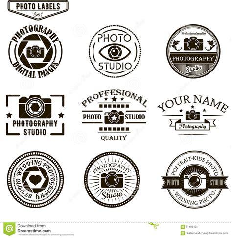 Vector Set Of Photography Logo Templates Photo Stock Vector Image 61498401 Studio Label Templates