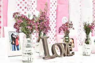 bridal shower table decoration ideas pink polka dot backdrop with romantic escort card table at california bridal shower onewed com