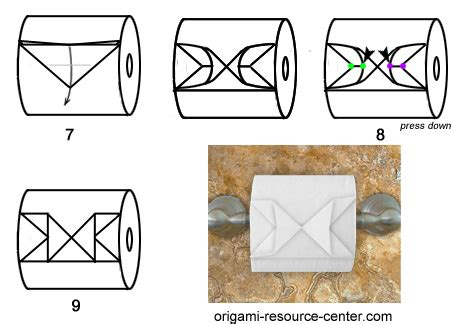 How To Make Toilet Paper Origami - toilet paper origami butterfly