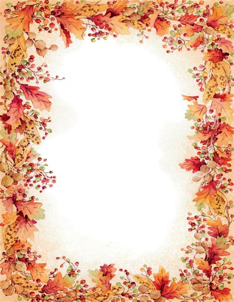 printable fall stationery paper 6 best images of funny fall printable paper free