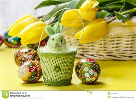 beautiful easter baskets beautiful yellow tulips in white wicker basket and easter