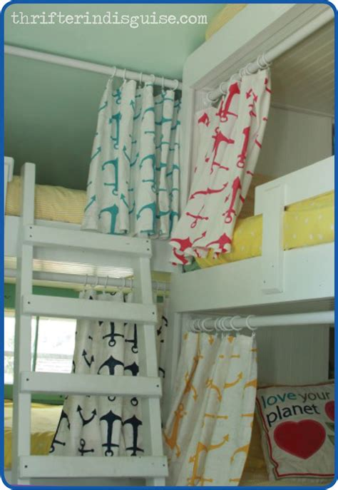 how to make bunk bed curtains a thrifter in disguise easy sew diy bunk bed curtains