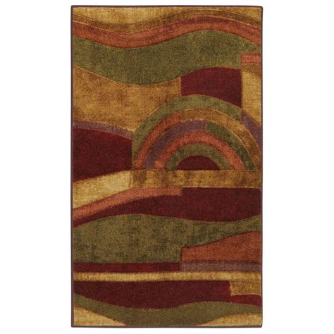 Mohawk Picasso Wine Rug by Mohawk Home Mayan Sunset 1 Ft 8 In X 2 Ft 10 In