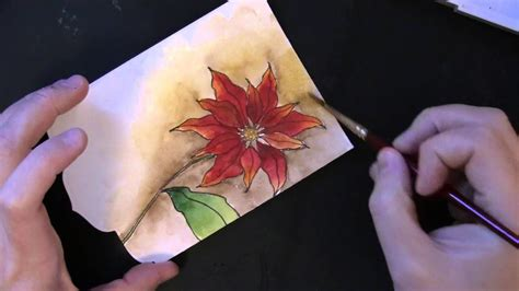 pbj handmade watercolor christmas card youtube