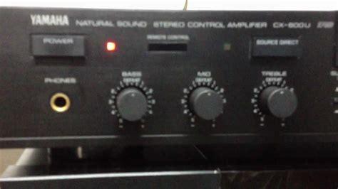yamaha mx  power amplifier yamaha cx  stereo amplifier youtube