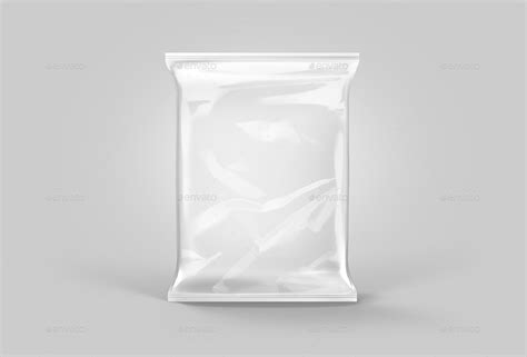 transparent foil pouch packaging mock up by tirapir