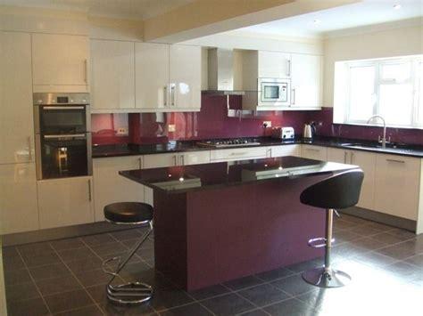 aubergine glass splashback search kitchen