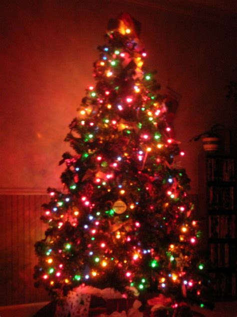 multi colored lights as it happens to me o tree