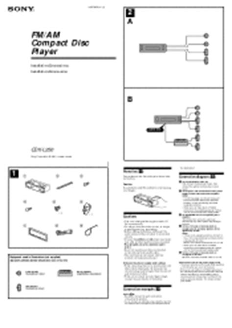 sony fm am compact disc player wiring diagram sony cdx l250 fm am compact disc player support and manuals